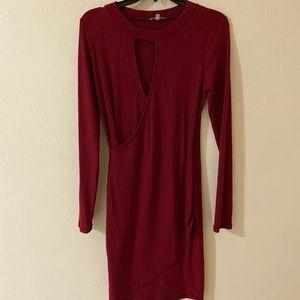 Maroone dress